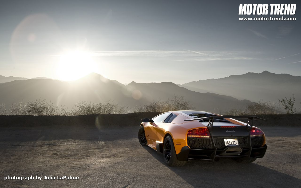 Lamborghini Murcielago LP SV Sunset HD Wallpaper