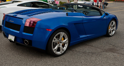 Blue Lamborghini Gallardo