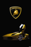 Yellow Lamborghini Murcielago iPhone Wallpaper