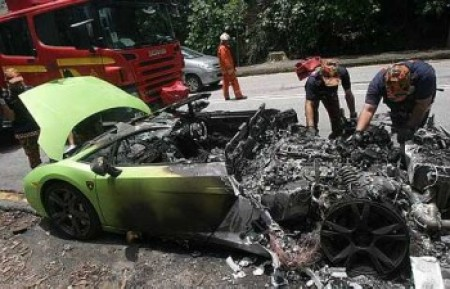 Blown Up Lamborghini Gallardo